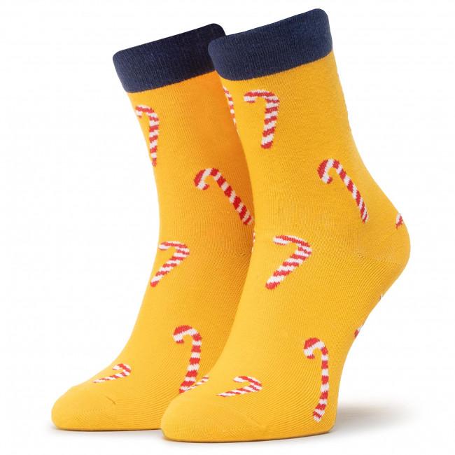 Ponožky Vysoké Unisex DOTS SOCKS - DTS-SX-484-Y Žltá