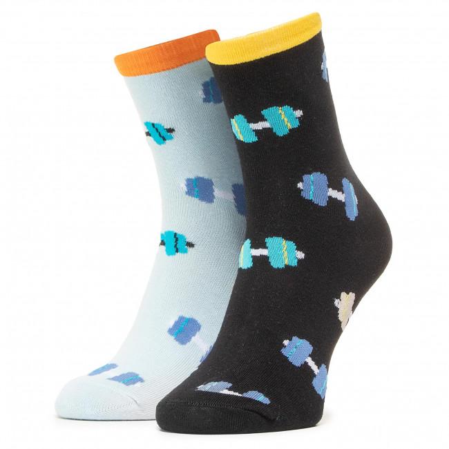 Ponožky Vysoké Unisex DOTS SOCKS - DTS-SX-495-X Čierna Modrá