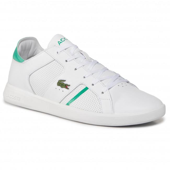 Sneakersy LACOSTE - Novas 0120 1 Sma 7-40SMA0012082 Wht/Grn