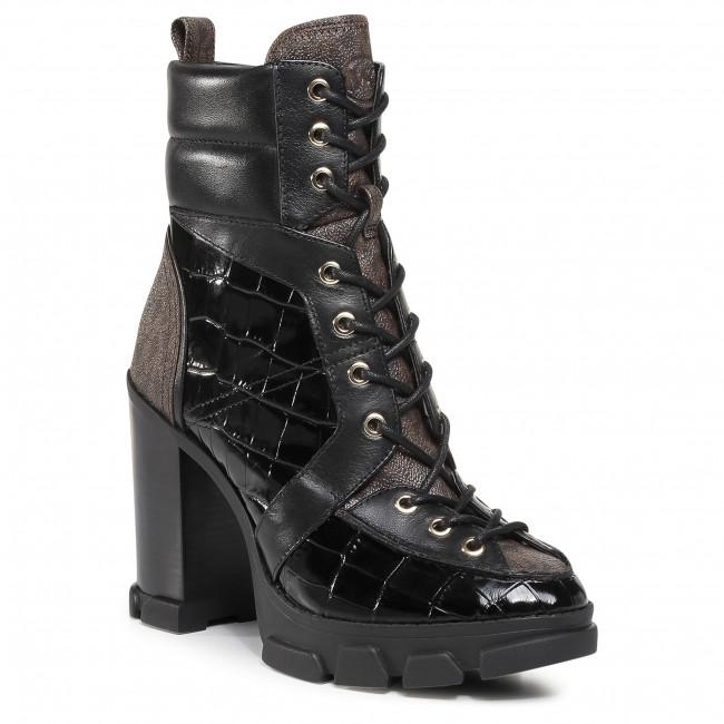 Členkové čižmy MICHAEL MICHAEL KORS - Ridley Lace Up Bootie 40F0RIHE6E Black