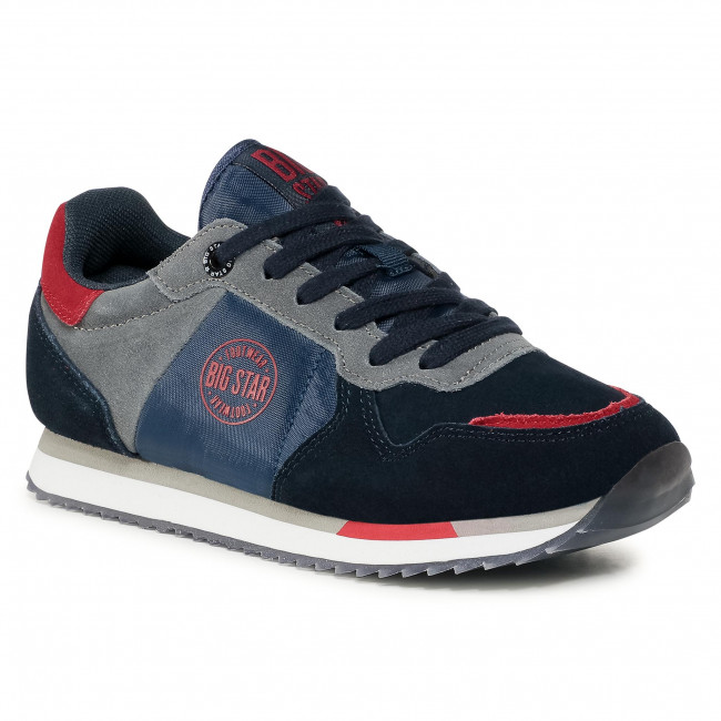 Sneakersy BIG STAR - GG274A055 Navy/Red