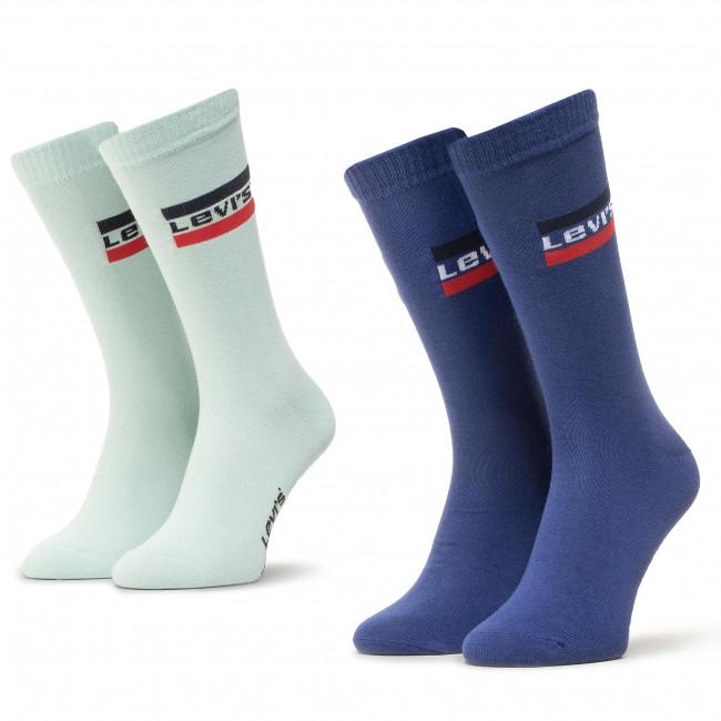 Súprava 2 párov vysokých ponožiek pánskych LEVI'S® - 903013001  Nasturtium