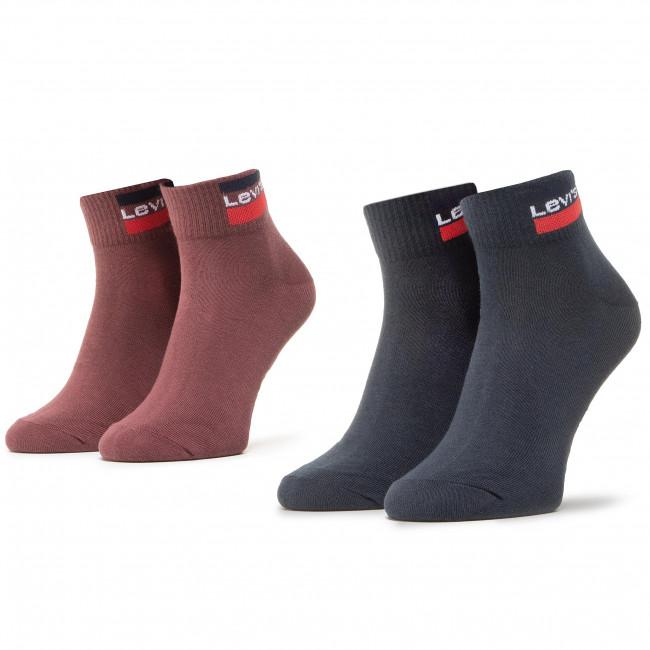 Súprava 2 párov kotníkových ponožiek unisex LEVI'S® - 37157-0464 Poudre
