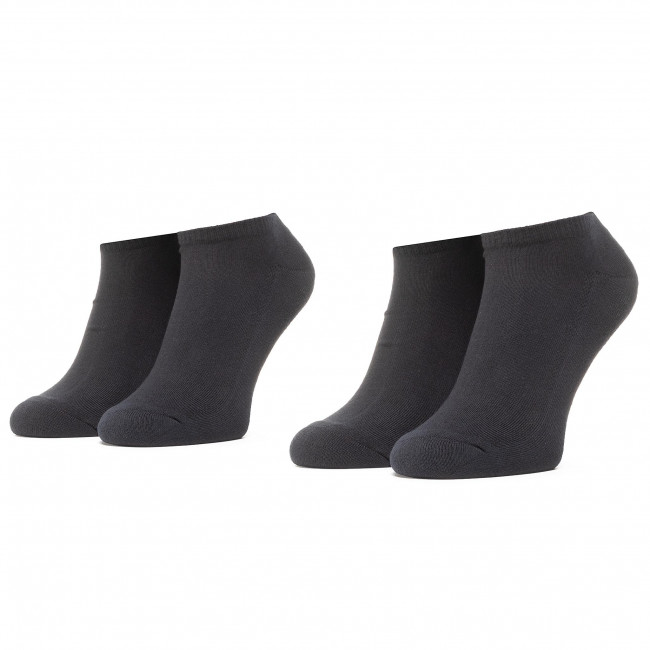 Súprava 2 párov kotníkových ponožiek unisex LEVI'S® - 37157-0216 Jet Black