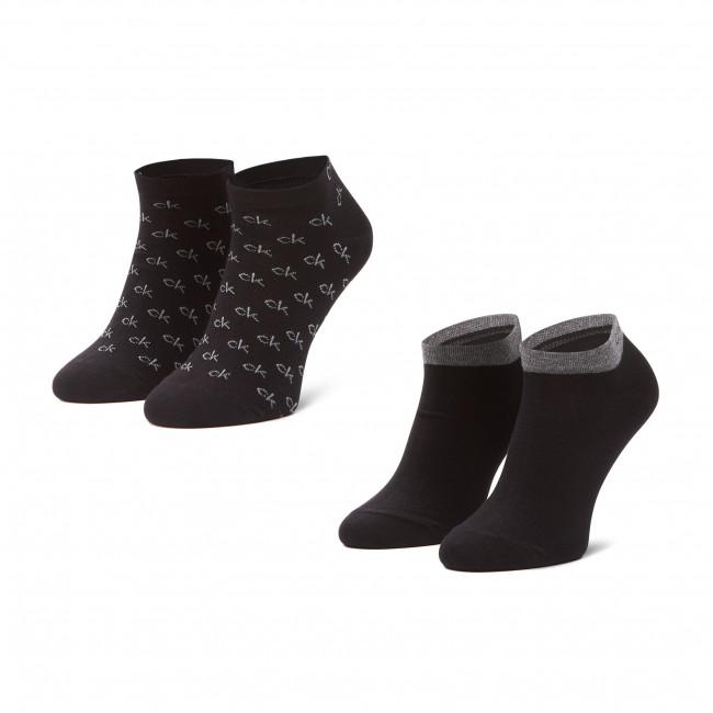 Súprava 2 párov kotníkových ponožiek pánských CALVIN KLEIN - 100001762 Black 001