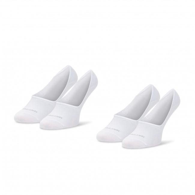 Súprava 2 párov krátkych ponožiek pánskych CALVIN KLEIN - 100001807 White 002