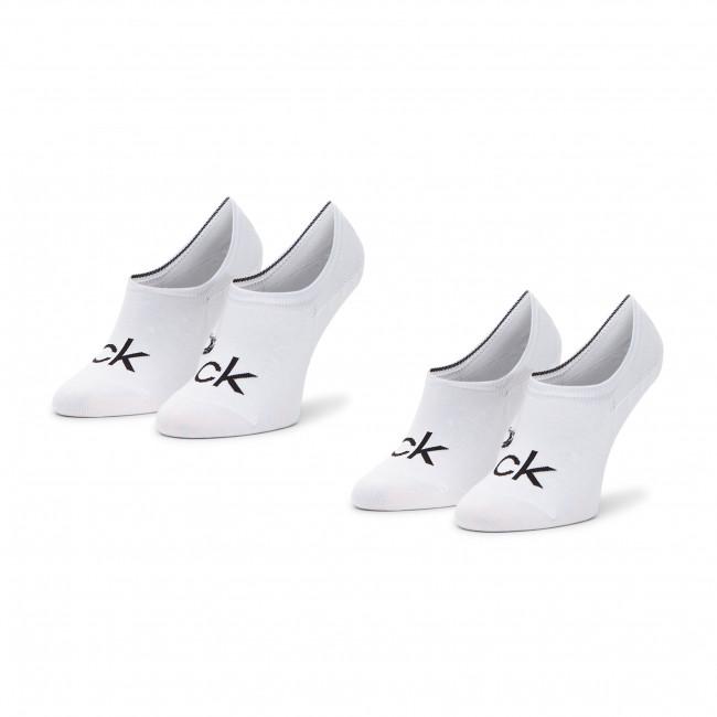 Súprava 2 párov krátkych ponožiek pánskych CALVIN KLEIN - 100001867 White 002