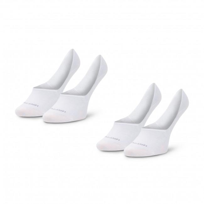 Súprava 2 párov krátkych ponožiek dámskych CALVIN KLEIN - 100001902 White 002