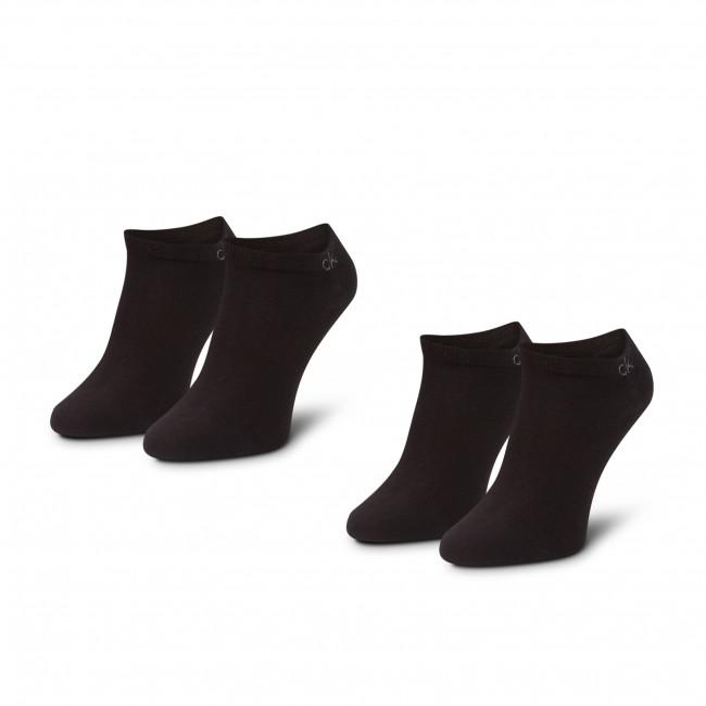 Súprava 2 párov kotníkových ponožiek pánských CALVIN KLEIN - 100001932  Black 001