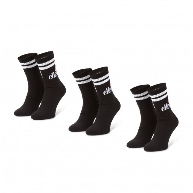 Súprava 3 párov vysokých ponožiek pánskych ELLESSE - Pullo SAAC0620 Black
