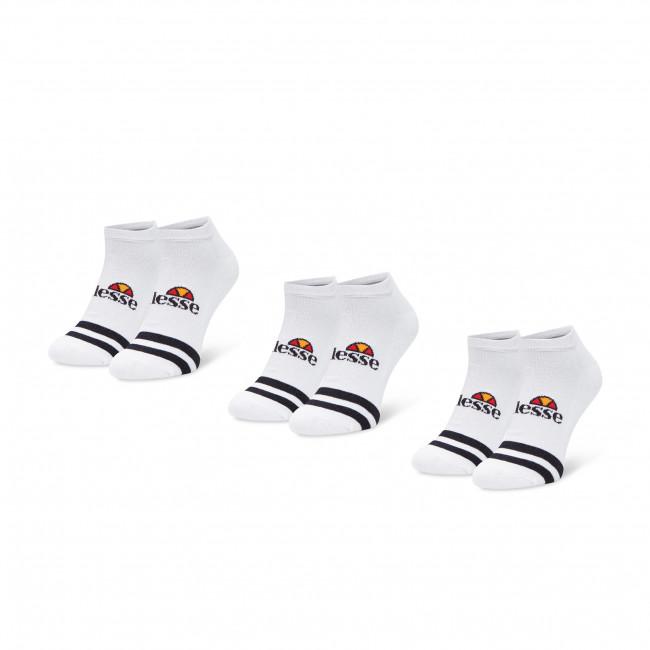 Súprava 3 párov kotníkových ponožiek pánských ELLESSE - Melna SAAC0876 White