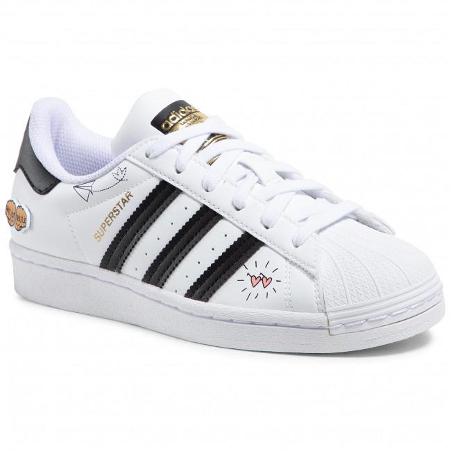 Topánky adidas - Superstar J FX5202 Ftwwht/Black/Goldmt