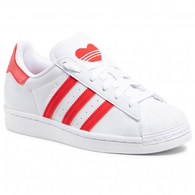 Topánky adidas - Superstar J FY2569 Ftwwht/Vivred/Ftwwht