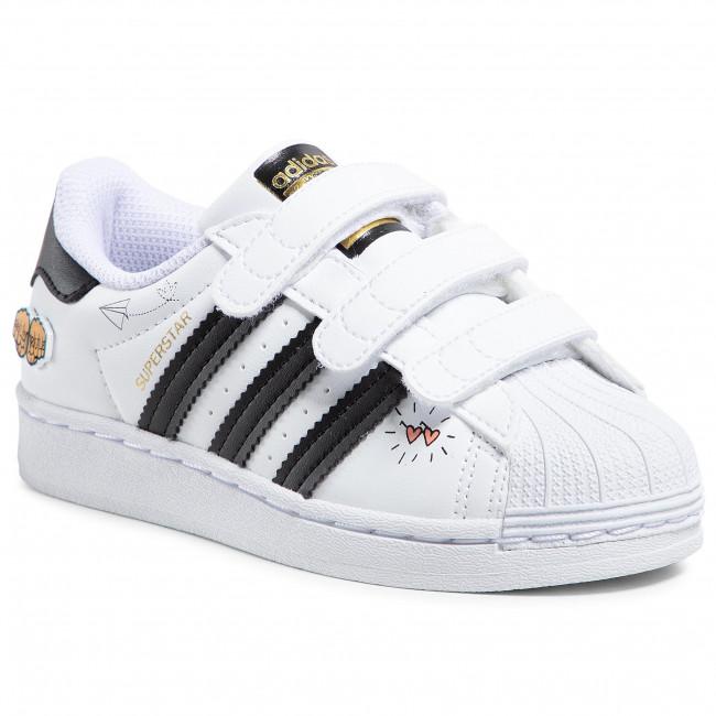 Topánky adidas - Superstar Cf C FZ0615  Ftwwht/Cblack/Goldmt