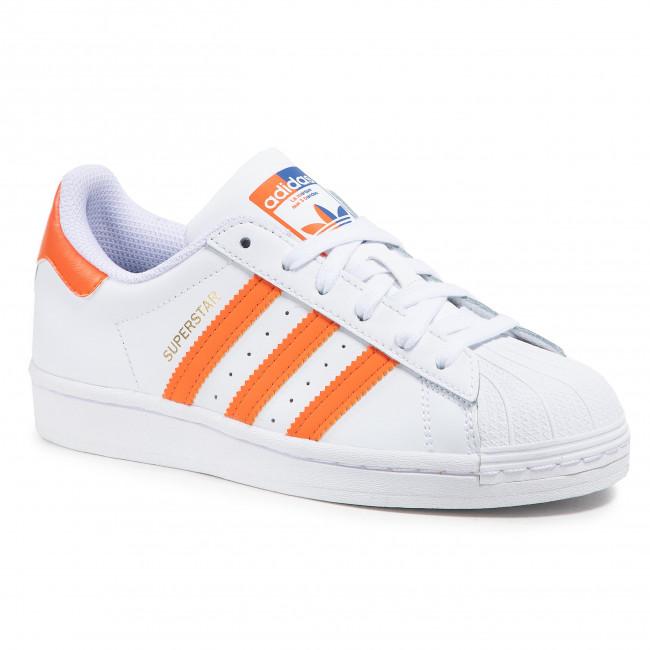 Topánky adidas - Superstar J FZ0648 Ftwwht/Blue/Goldmt