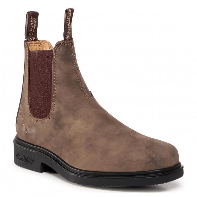 Kotníková obuv s elastickým prvkom BLUNDSTONE - 1306  Rustic Brown