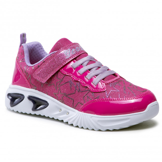 Sneakersy GEOX - J Assister G.A J15E9A 0GFHH C8257 D Fuchsia/Lilac