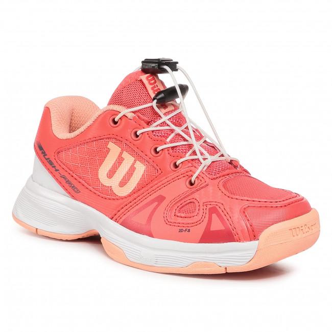 Topánky WILSON - Rush Pro Jr Ql WRS326250  Cayenne/Wht/Papaya