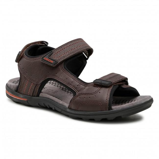 Sandále GEOX - U Tevere A U029CA 0BC50 C6009  Coffe