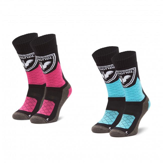 Súprava 2 párov vysokých ponožiek dámskych ROSSIGNOL - W Thermotech 2P RLJWX02  Black 200