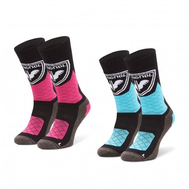 Súprava 2 párov vysokých ponožiek detských ROSSIGNOL - Jr Thermotech 2P RLJYX02  Pink Fushia 374