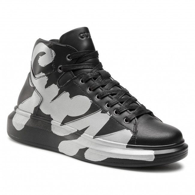 Sneakersy GUESS - Salerno Mid FM5SLM LEA12 BLACK