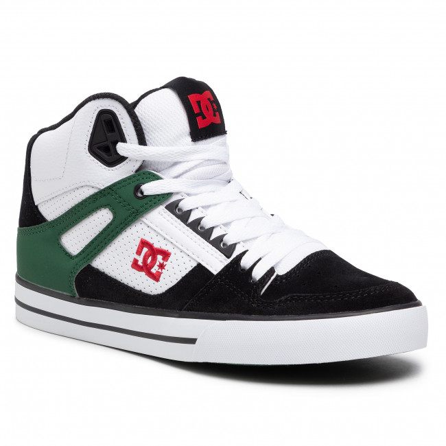 Sneakersy DC - Pure High-Top ADYS400043 White/Green/Black(TGB)