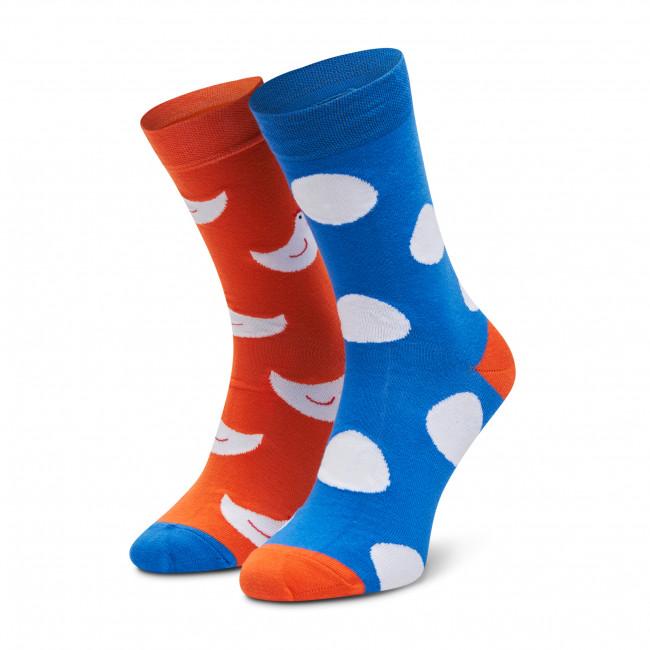 Ponožky Vysoké Unisex FREAKERS - LMKUR-ORG Modrá Oranžová