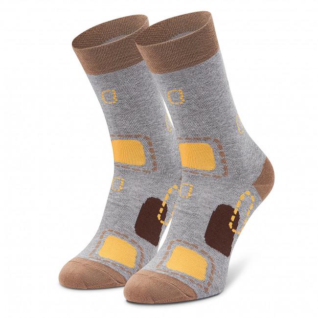 Ponožky Vysoké Unisex FREAKERS - LMLAT-GRY Sivá