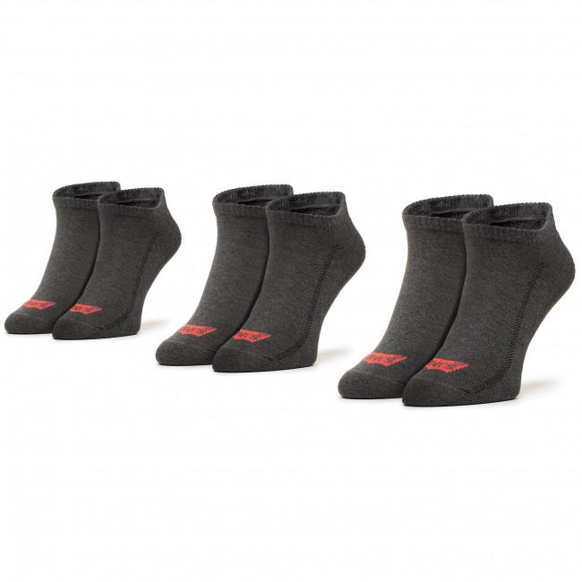 Súprava 2 párov krátkych ponožiek pánskych LEVI'S® - 90305-0001 267  Melange/Black