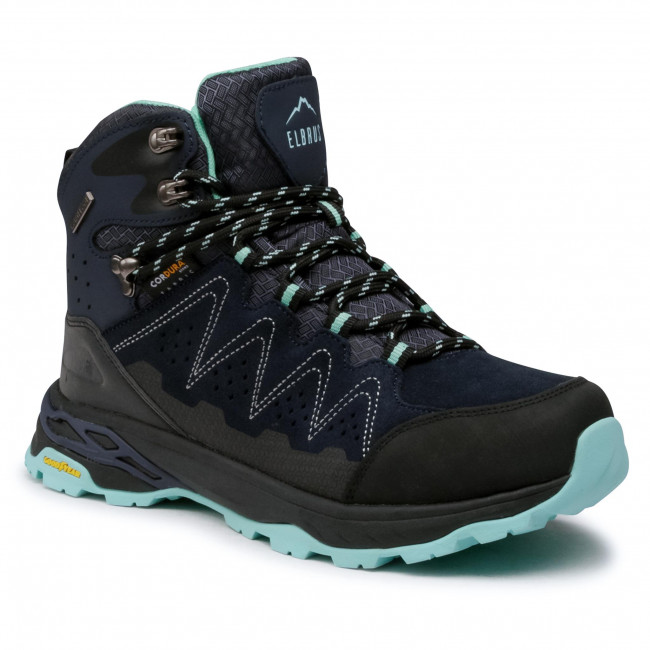 Trekingová obuv ELBRUS - Eravica Mid Wp Gc Wo's Blue Nights/Aruba Blue/Black