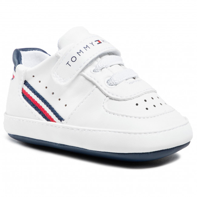 Sneakersy TOMMY HILFIGER - Lace Up T0B4-31063-1180 White/Blue X336
