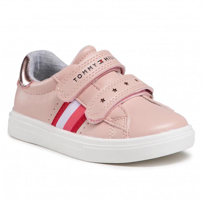 Sneakersy TOMMY HILFIGER - Low Cut Velcro Sneaker T1A4-31012-0621 S Pink 302