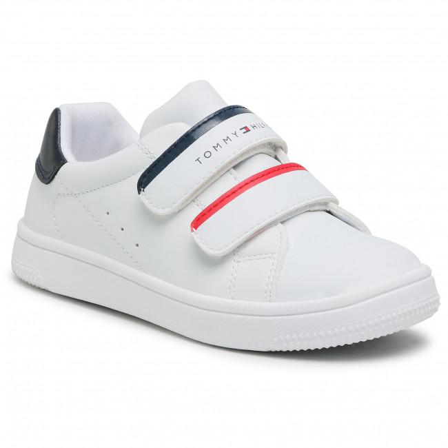 Sneakersy TOMMY HILFIGER - Low Cut Velcro Sneaker T1B4-31079-0193Y003 S White/Blue/Red Y003