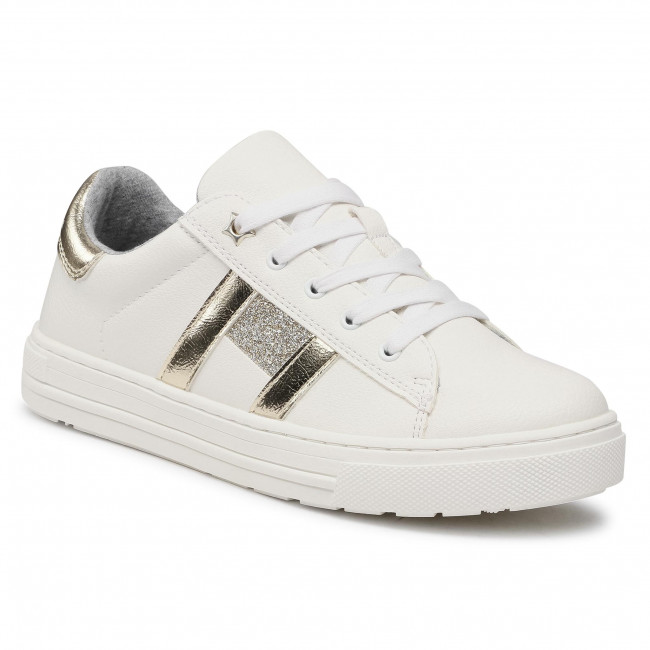 Sneakersy TOMMY HILFIGER - Low Cut Lace-Up Sneaker T3A4-31023-0813 S White/Platinum X048