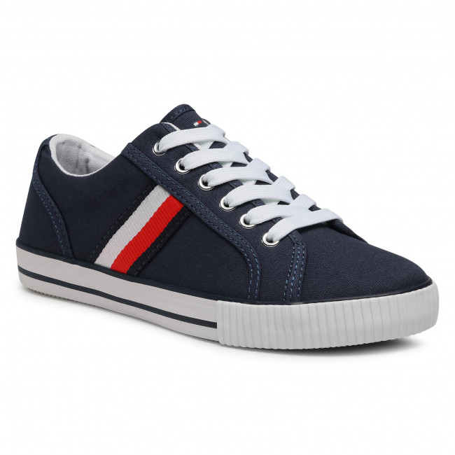 Tenisky TOMMY HILFIGER - Low Cut Lace-Up Sneaker T3B4-31070-1185 S Blue/White X007