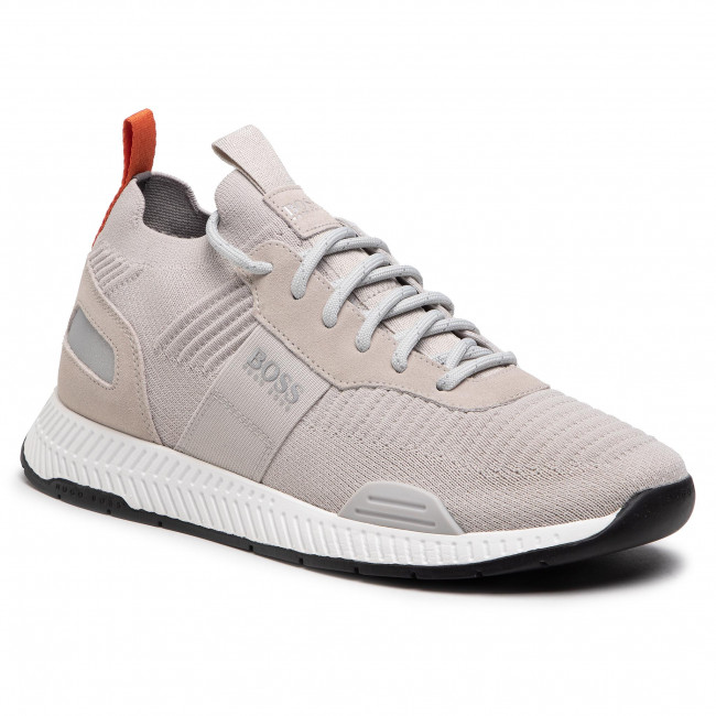 Sneakersy BOSS - Titanium 50452034 10232616 01 Light Beige 275