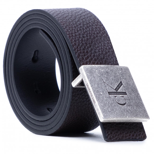 Opasok Pánsky CALVIN KLEIN - Square Plaque Rey Belt 38Mm K50K506552 Black/Bitter Brown 01K