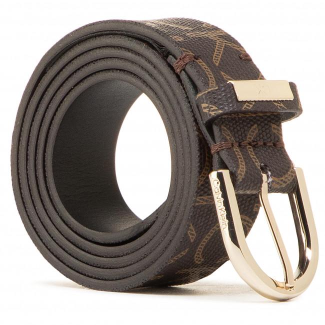 Opasok Dámsky CALVIN KLEIN - Round Belt 25mm Mono K60K608111 0HD
