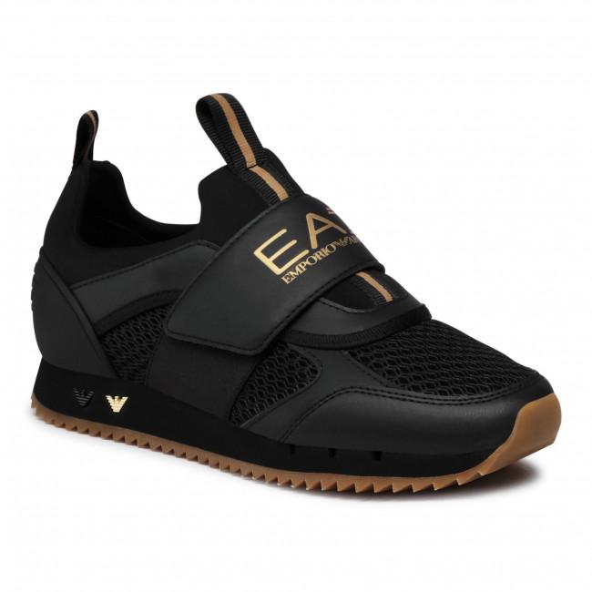 Sneakersy EA7 EMPORIO ARMANI - X8X066 XK199 N442 Triple Blk/Gold/Hone