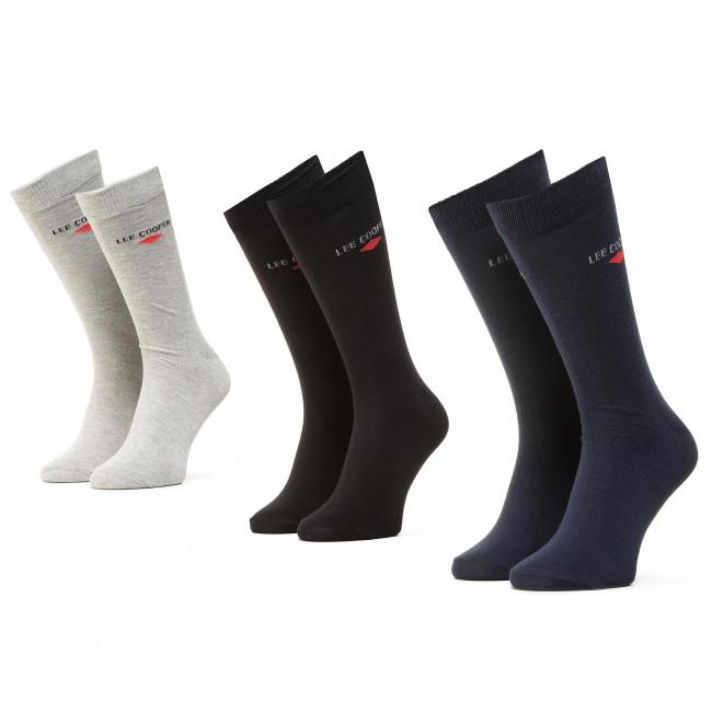 Súprava 3 párov vysokých ponožiek pánskych LEE COOPER - Anksocks 1801 Mix