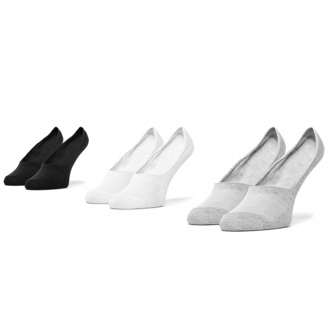 Súprava 3 párov krátkych ponožiek pánskych LEE COOPER - Invsocks 1802 Mix  Biela Čierna Sivá