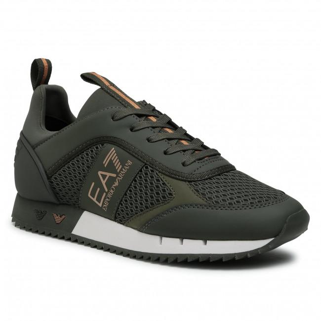 Sneakersy EA7 EMPORIO ARMANI - X8X027 XK050 N439 Climbing Ivy/Bronze