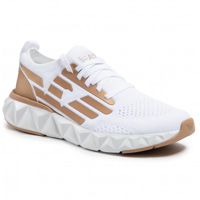 Sneakersy EA7 EMPORIO ARMANI - X8X048 XK113 N399 White/Bronze