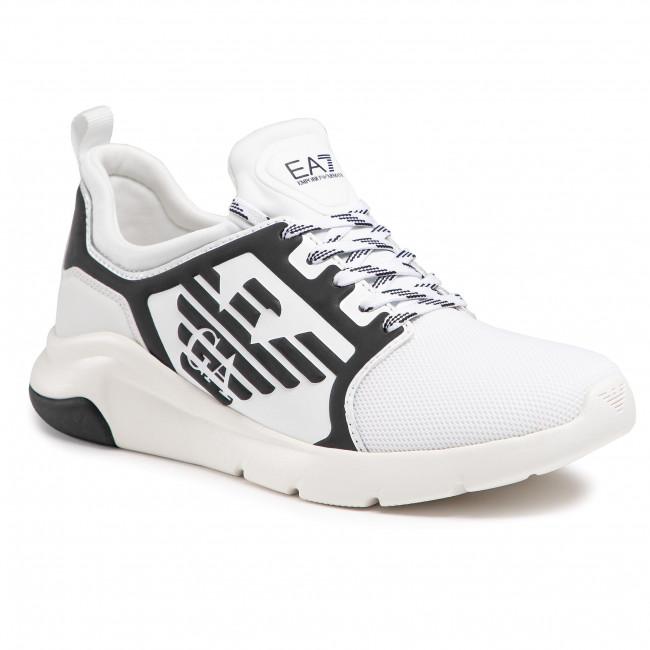 Sneakersy EA7 EMPORIO ARMANI - X8X057 XCC55 R550 White/Gunmetal