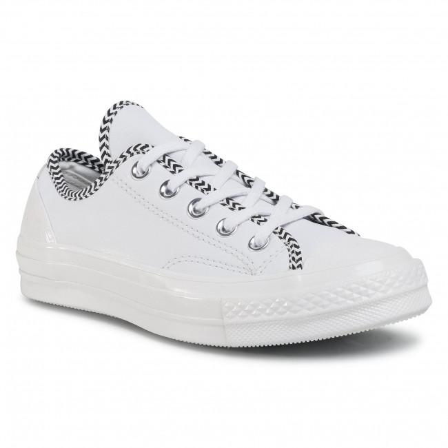 Tramky CONVERSE - Chuck 70 Ox 565370C White/White/Black/White