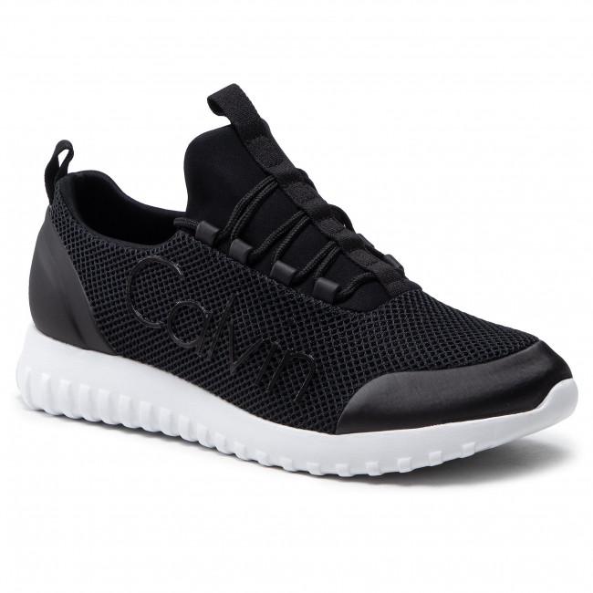 Sneakersy CALVIN KLEIN JEANS - Runner Sneaker Laceup Mesh YM0YM00085 Black BDS