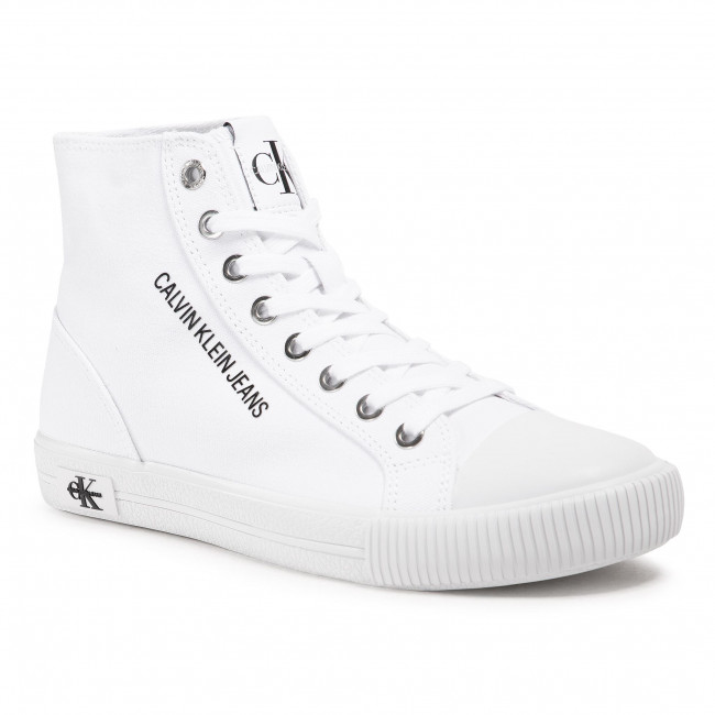 Tramky CALVIN KLEIN JEANS - Vulcanized Sneaker Highlaceup Co YW0YW00049 Bright White YAF