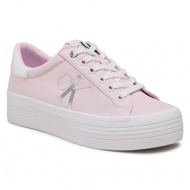 Sneakersy CALVIN KLEIN - Vulcanized Flatform Laceup Ny YW0YW00067 Pearly Pink TN9