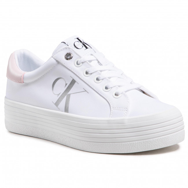 Sneakersy CALVIN KLEIN JEANS - Vulcanized Flatform Laceup Ny YW0YW00067 Bright White